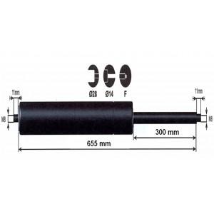 Vérin à gaz - 2000N - entraxe 700